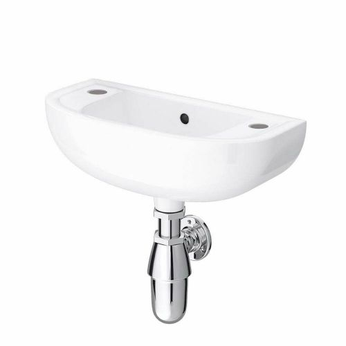 RAK Compact 450mm Slim Line Basin - 2 Tap Hole